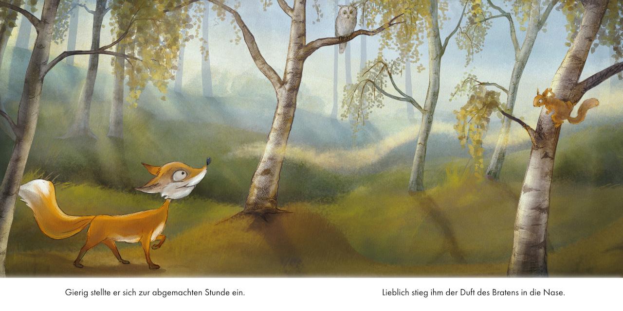 Fox, Squirrel, Fuchs, Eichhörnchen